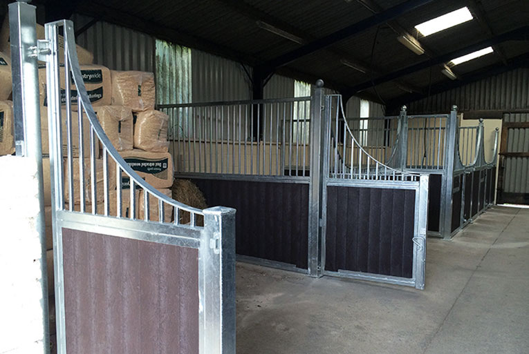 Custom Stable Designs - Swinging Side Partitions 2