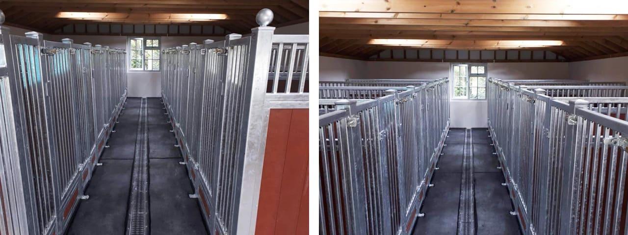 Custom steel dog kennels